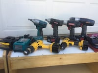 two black and blue Makita cordless power tools Palmdale, 93550