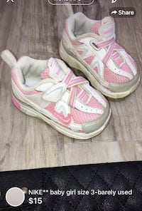 NIKE** baby girl size 3-barely used London, N5W 1E8