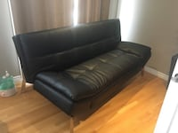 Black leather tufted sofa chair Newmarket, L3Y 4R4