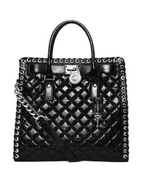 black leather quilted tote bag Frederick, 21703