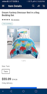 Twin Bedding Set including sheets and pillowcases