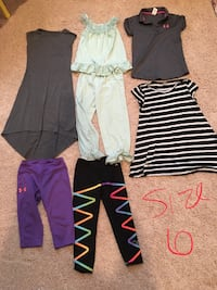 Girls size 6 Spring/Summer clothes-Under Armour, Gap Urbandale, 50323