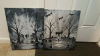 Two original paintings