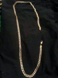gold-colored chain necklace Red Deer, T4R