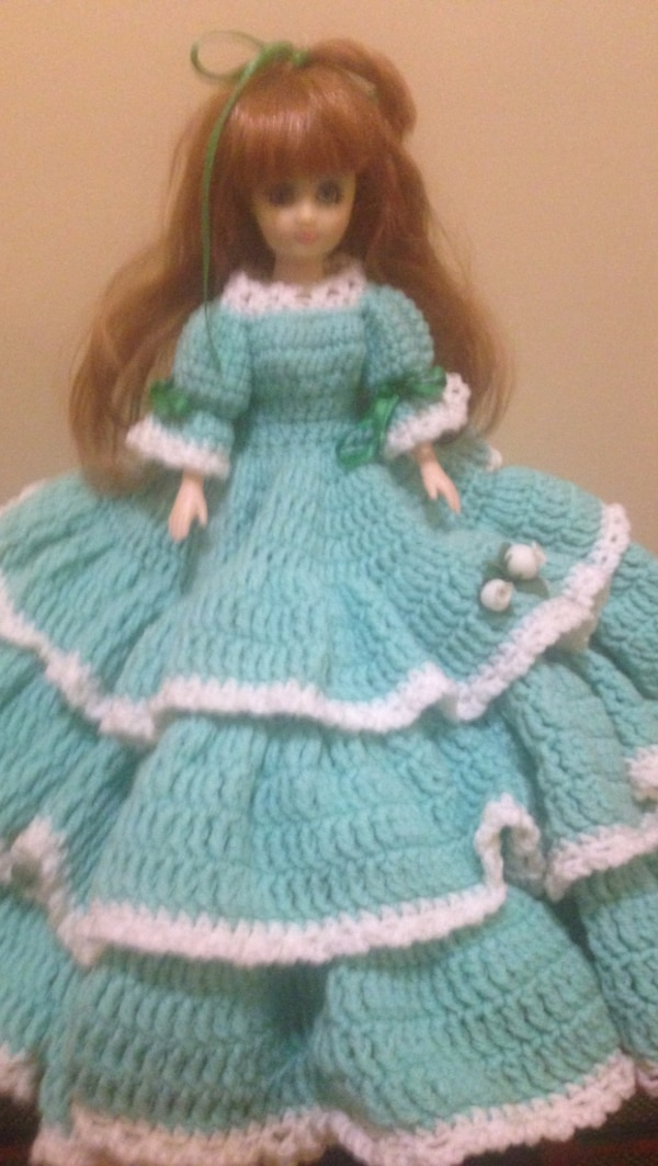 Red hair doll in teal dress