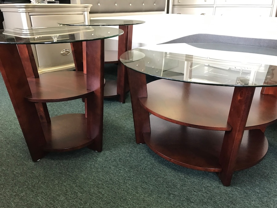 Three Round Glass Top Coffee Tables In Houston Letgo