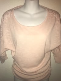 Baby Pink Sz Small Lacey Blouse / Top