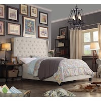 Queen upholstered Bed Frame SF