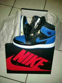 black-and-blue Air Jordan 1's with box Beverly Hills, 90212
