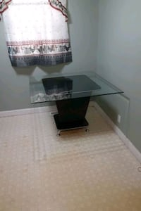 """Glass top only 45""""×45""""  3/8 thick bevel ends all around"""