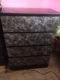 black and white wooden 3-drawer chest Bethesda, 20814