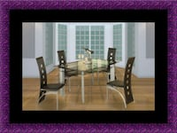 Glass dining table with 4 chairs Alexandria, 22306
