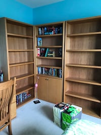 3 oak bookshelves Laurel, 20707