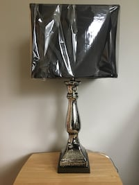 Two matching Black and silver table lamp