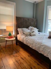 Queen West Elm Headboard and bed frame Boston, 02124