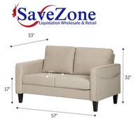 New In Box- 2 seat sofa in oatmeal beige by South Shore Mississauga
