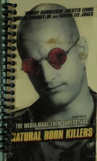 Natural Born Killers VHS Notebook Davis