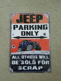 Jeep parking only others scrap metal sign  Ridgefield, 98642