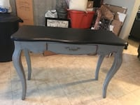 large console material in wood gray and black color 41x17 wide and 31 high Scranton, 18504