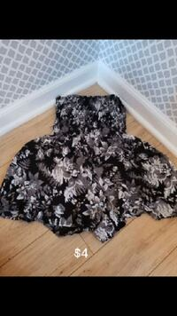black and gray floral skirt Lincoln Park, 48146
