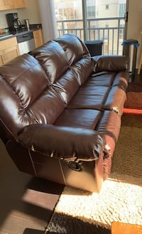 Leather Couch w/ recliners
