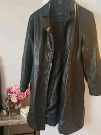 Black leather coat size:L