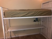 White Loft Metal Bed with Workstation Gaithersburg, 20879