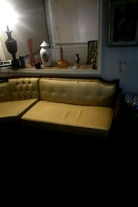 brown leather sectional sofa with ottoman Dundalk, 21222