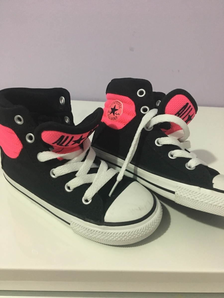 Black-and-pink Converse All-Star high top sneakers - $20