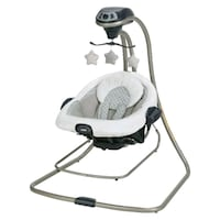 baby's white and gray Graco cradle and swing Seaside, 93955