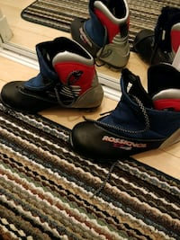 Cross country Fischer skis and Rossignol boots