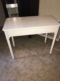 white wooden table with drawer Mc Lean, 22101