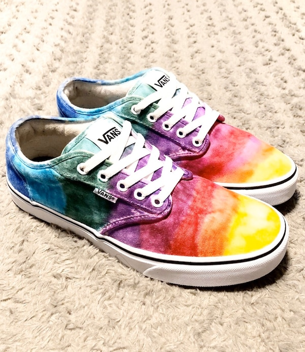 Vans Rainbow Tie Dye shoes paid $80 Size 9.5 Like new! Women's size 11 9686df55-5120-4953-98dc-81e3771284c4