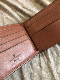 Black and brown louis vuitton leather wallet Toronto, M9W 4V4