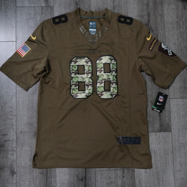 timeless design 00530 d5435 Dallas Cowboys Dez Bryant Nike Green Salute To Service Limited Jersey