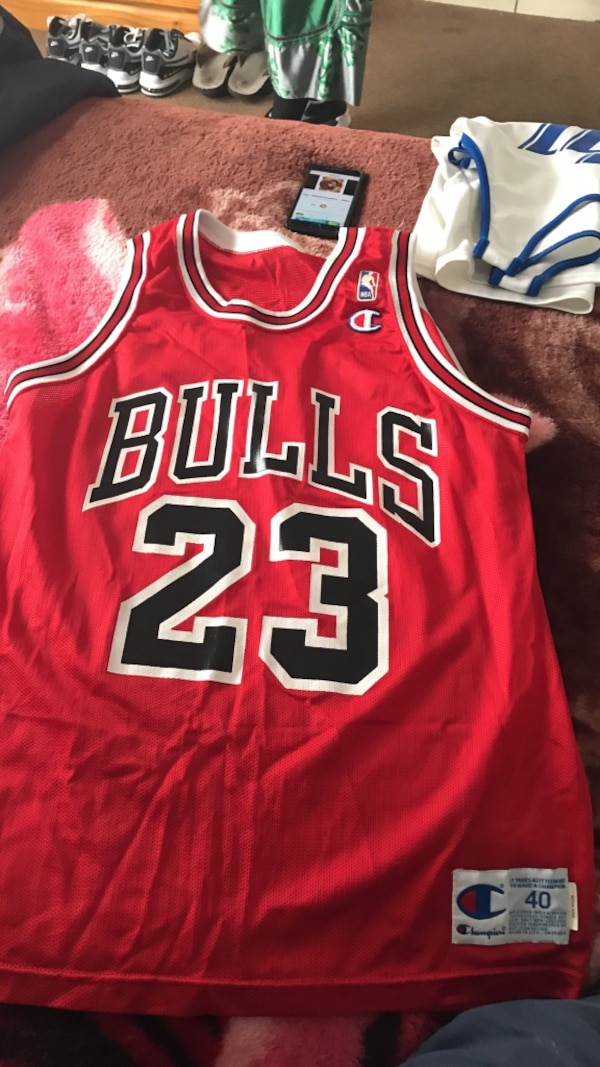 05391831f9d Used red Bulls 23 Michael Jordan basketball jersey for sale in ...