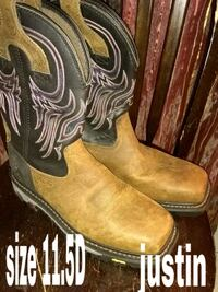 pair of brown leather cowboy boots Houston, 77026