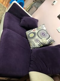 purple and white floral throw pillow Sloan, 14212