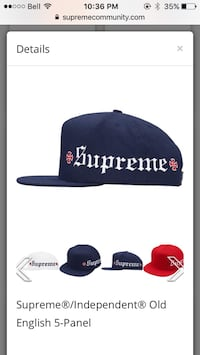 Supreme x independent hat navy open to trades as well