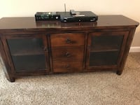 TV/media hutch, two end tables, coffee table Baytown, 77521