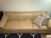 Tan Leather Couch for Sale