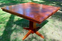 square brown wooden table Foster, 02825