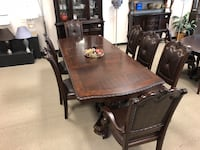 7-9-11 PIECE FORMAL SOLID WOOD DINING SETS SEALED NEW STARTING AT $1300 FLAT Houston, 77006