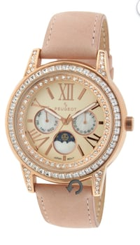 Peugeot® Womens Crystal-Accent Pink Leather Strap Centreville, 20121