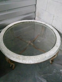 round brown wooden framed glass top table Orlando, 32809