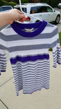 white, black, and gray striped sweater Antelope, 95843
