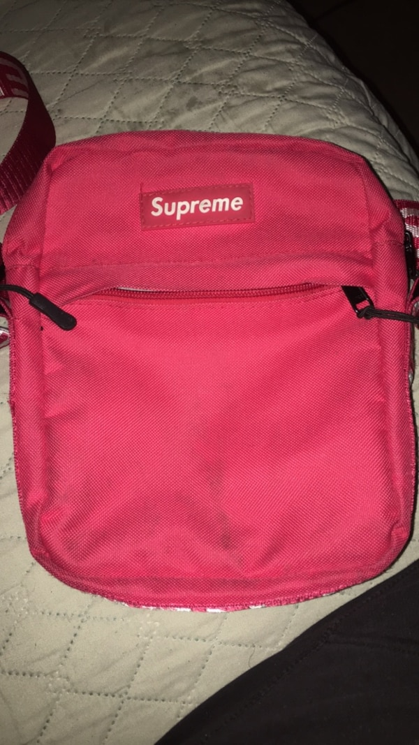 Used Pink and black supreme backpack for sale in Atlanta - letgo 019a12282f3b5