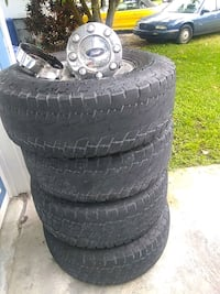 four black auto wheel with tires Vero Beach, 32962