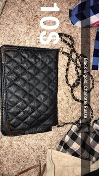 Black leather quilted crossbody bag Oklahoma City, 73099
