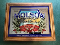 Molson Mirrored Glass Sign Manorville, 11949